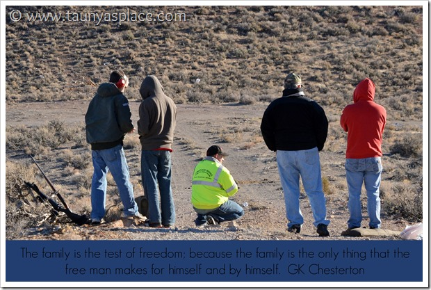 Shooting in the Desert - Family quote by GK Chesterton