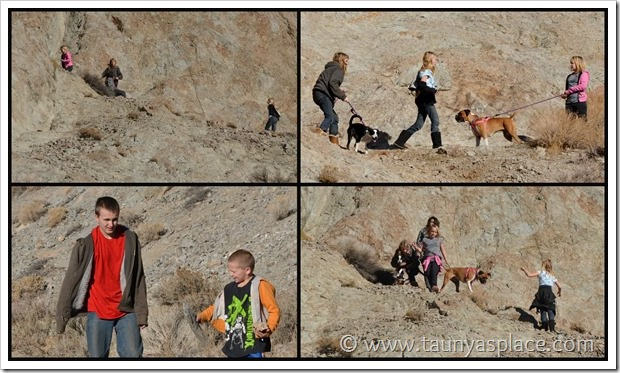 Shooting in the Desert - kids explore