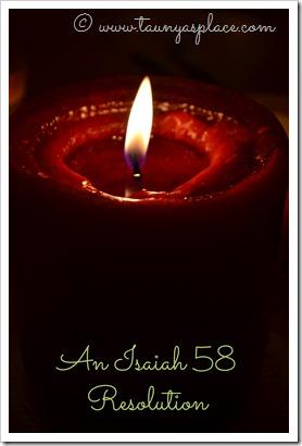 An Isaiah 58 Resolution