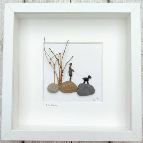 Pebble art or mothers day