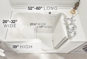 walk in tub size reviews
