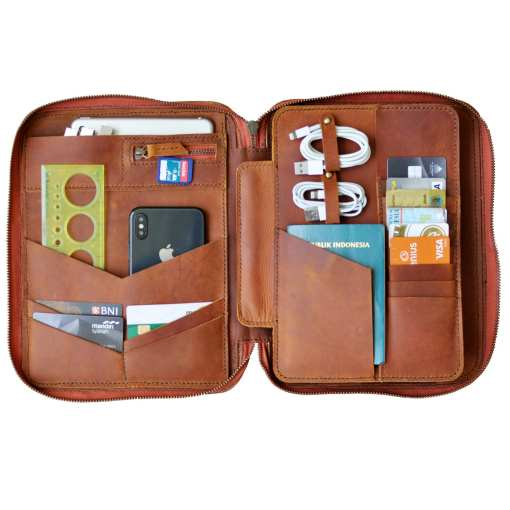 ipad mini leather organizer