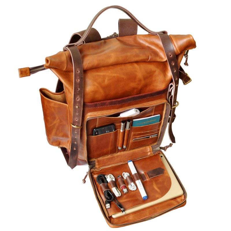 walklo leather bear backpack organizer