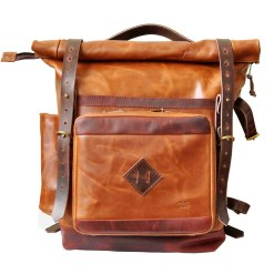 walklo leather travel backpack with organizer