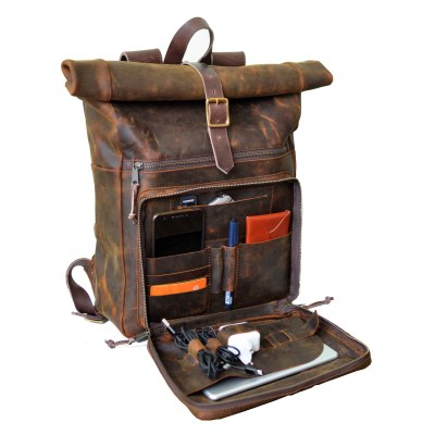 walklo leather daily roll top organizer