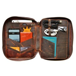 walklo leather - organizer for mini ipad