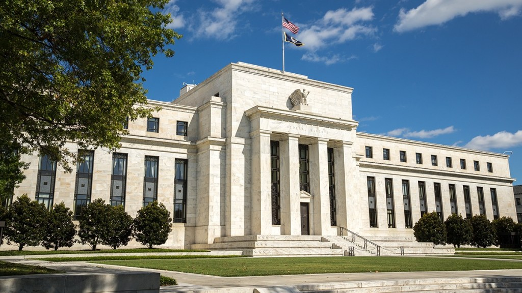 Facade of the Federal Reserve Bank in Washington D.C.
