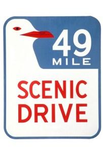 SF 49 Mile Scenic Drive Route Marker