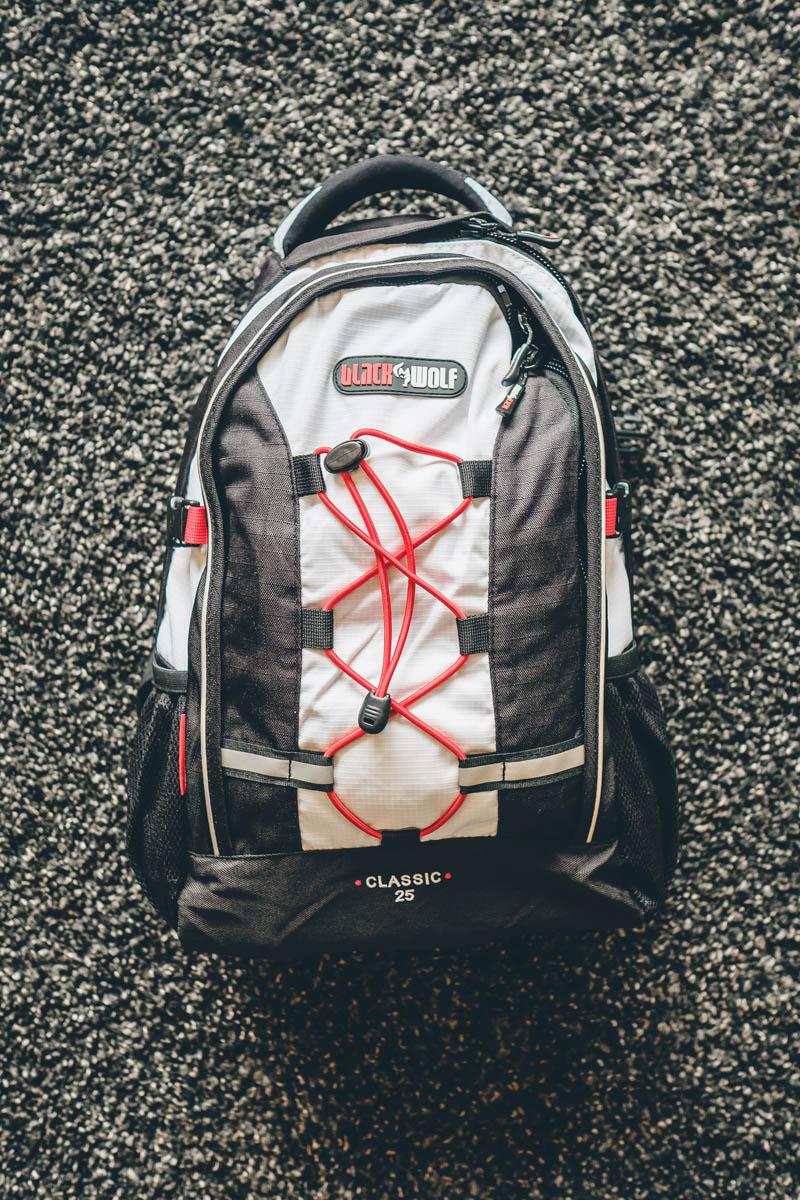Blackwolf small travel backpack