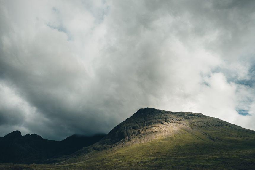 Isle of Skye Fairy Pools Moody Sky and Sunlight