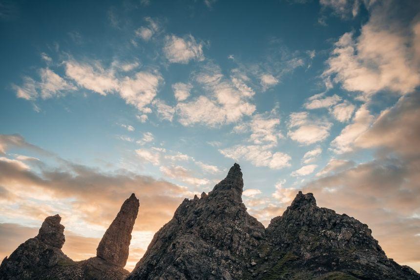 Isle of Skye Old Man of Storr Silhouette