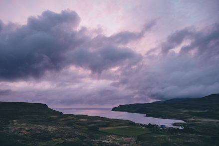 Isle of Skye Purple Sky Sunset