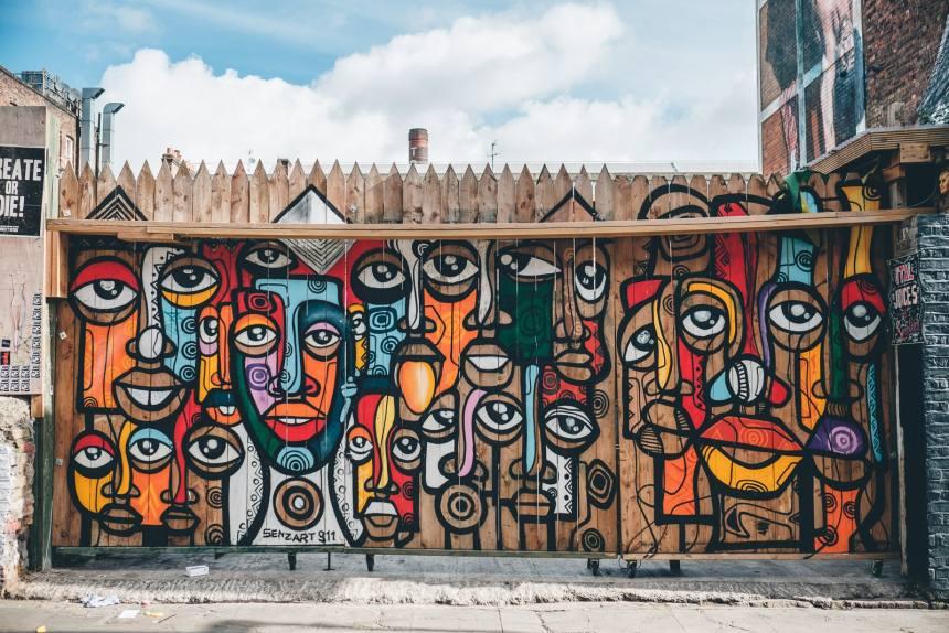 London Brick Lane Colourful Wall min
