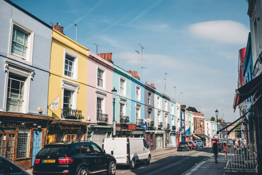 London Portobello Road Colourful Houses min