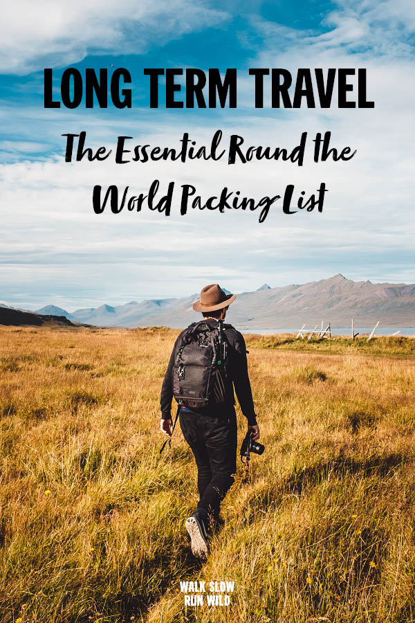 Long Term Travel Ultimate Round The World Packing List Pinterest2