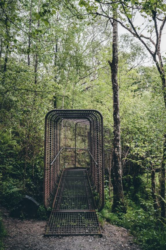 Scotland Falls of Falloch Sound Sculpture