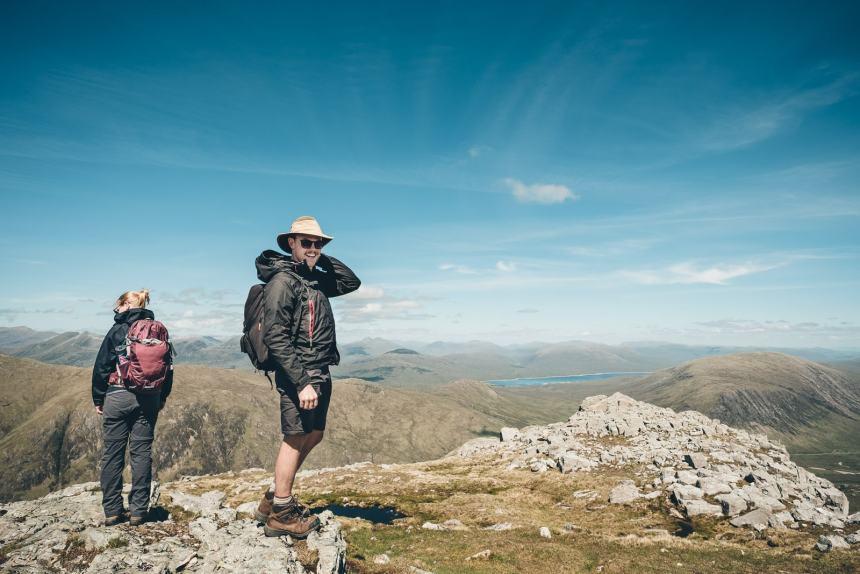 Scotland Glencoe Stu on top of Stob Dubh