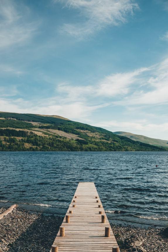 Scotland Loch Tay Jetty
