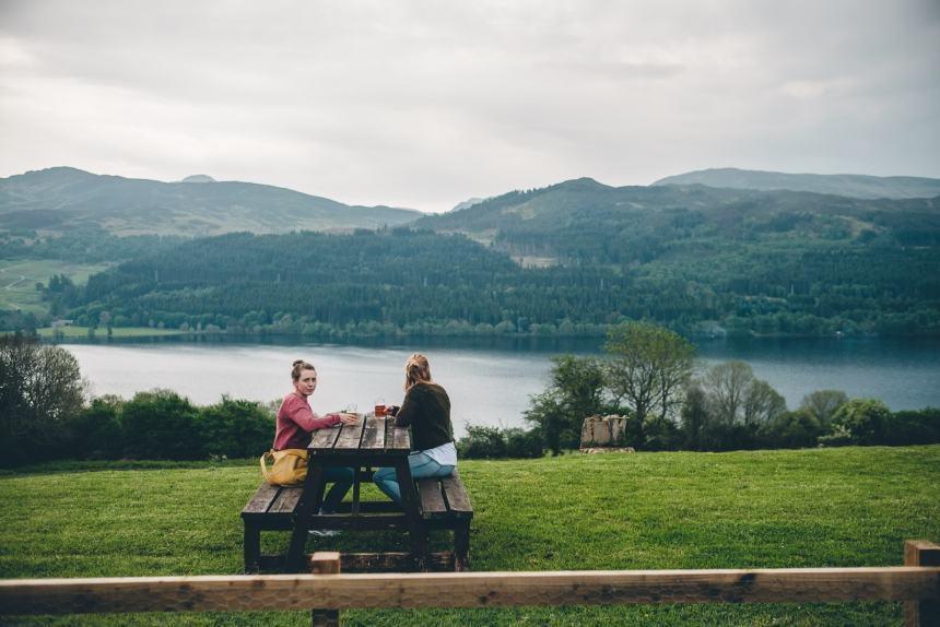 Scotland Loch Tummel Hotel View