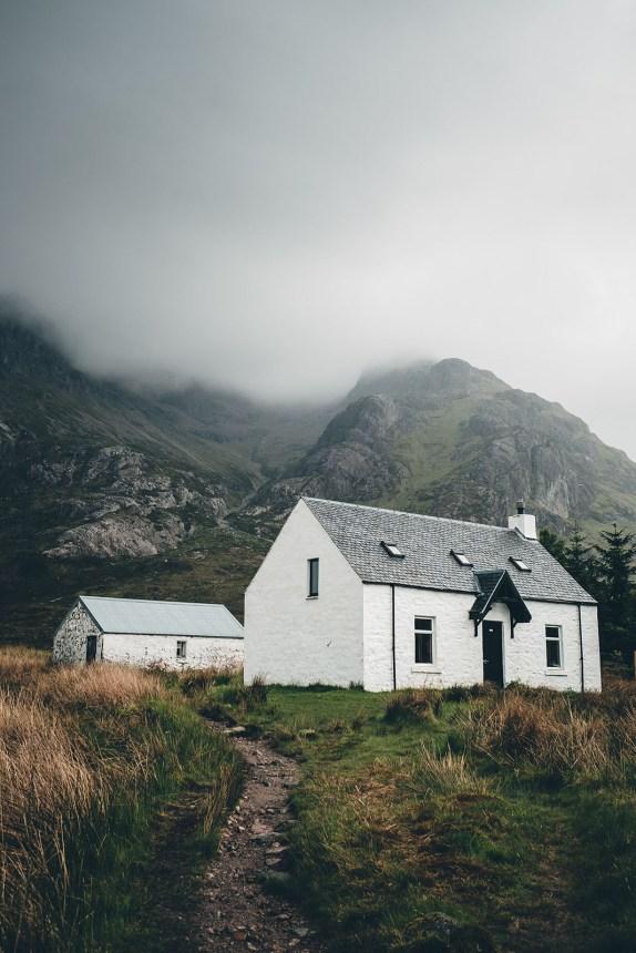Scotland Path to White Stone Bothy Cottage