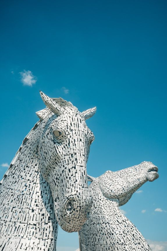 Scotland The Kelpies Stirling The Helix
