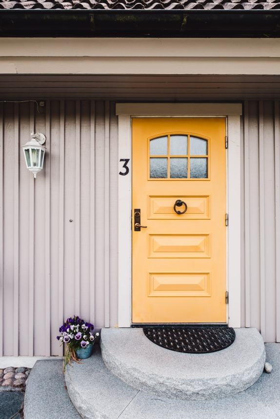 Ekero Yellow Front Door