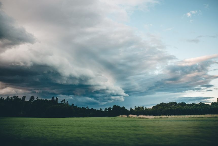 Stockholm Farm Storm Clouds