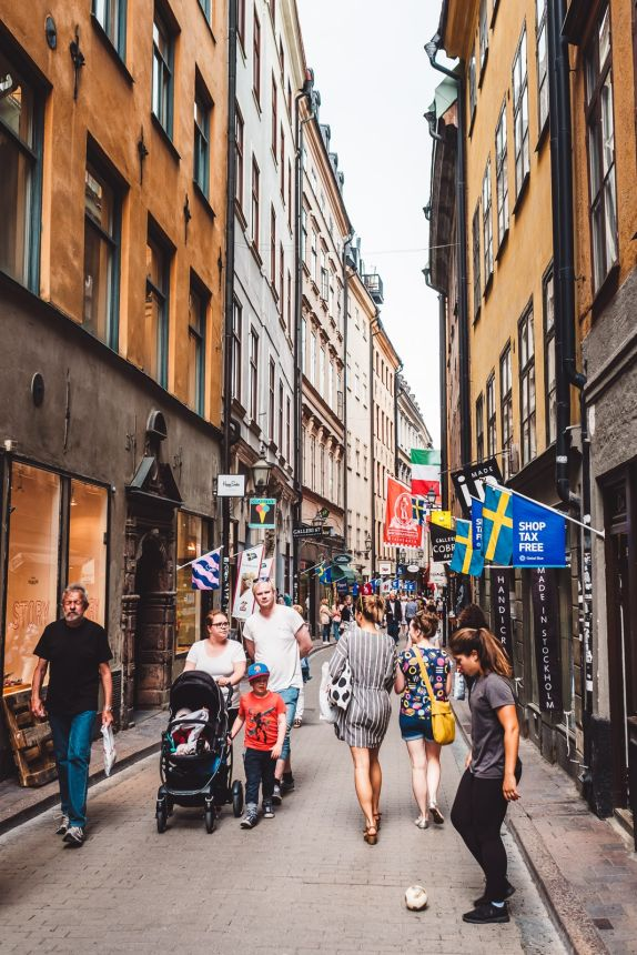 Stockholm Gamla Stan Busy Street