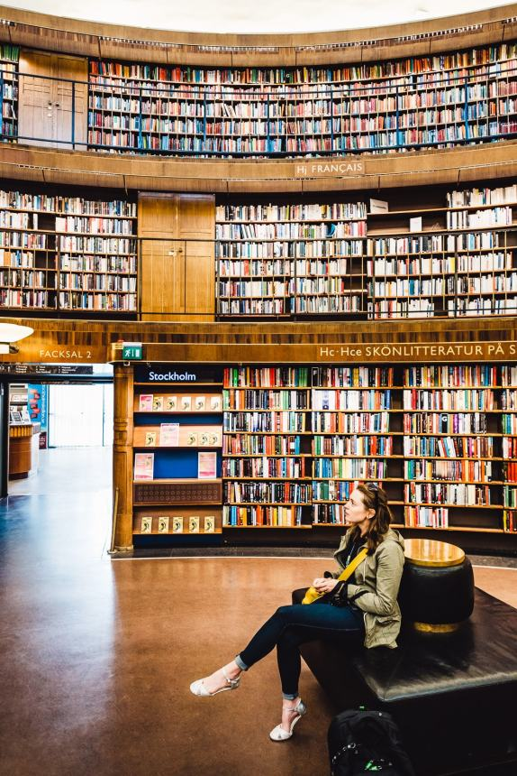 Stockholm Library Anna Resting