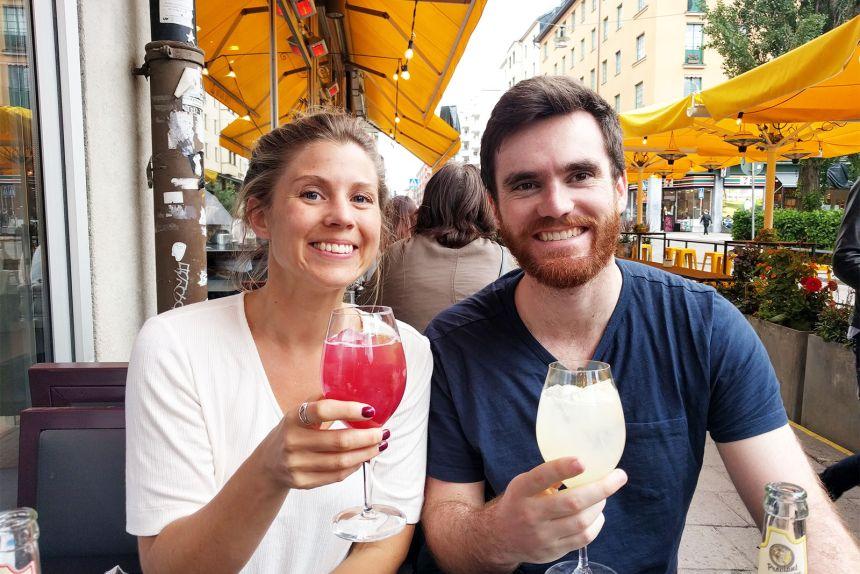 Stockholm Maria and Tim Cocktails