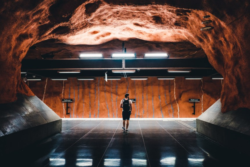 Stockholm Radhuset Metro Station Art Tim