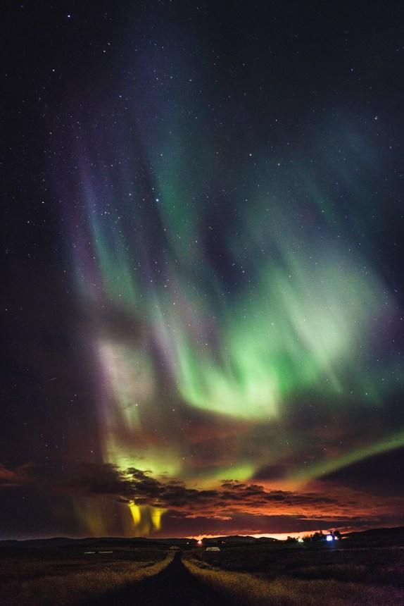 Aurora Borealis Iceland Reykjavik Light Pollution