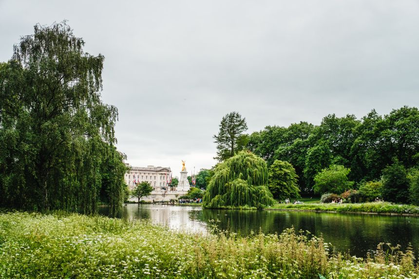 London Itinerary Buckingham Palace from St James Park