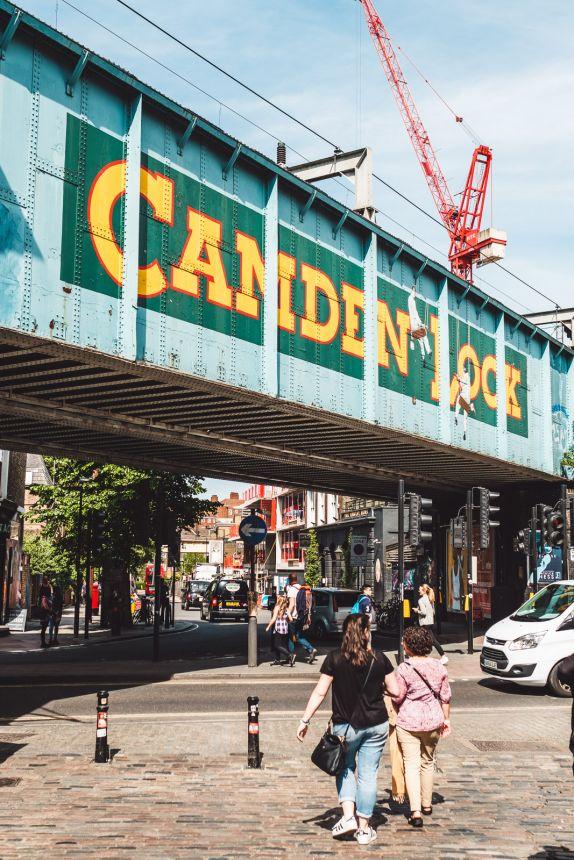 London Itinerary Camden Lock Sign over Camden Market