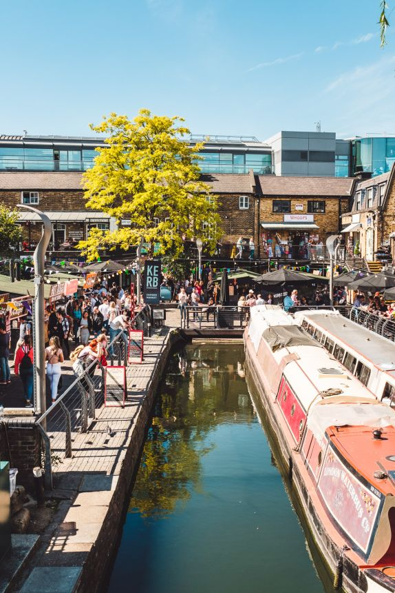 London Itinerary Camden Market Food Stall on a Sunney Day