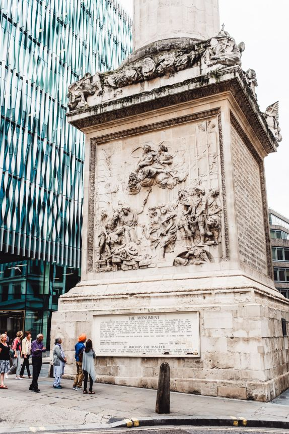 London Itinerary Monument to the Great Fire of London