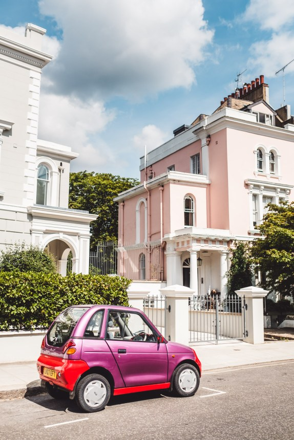 London Itinerary Notting Hill Pretty Pinks Car and Mansions