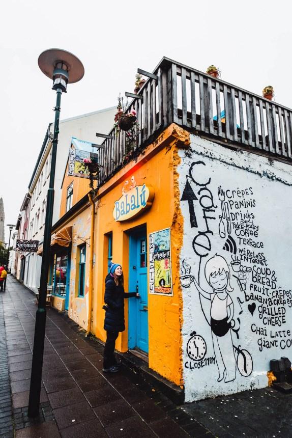Iceland Reykjavik Cafe Yellow Grafitti