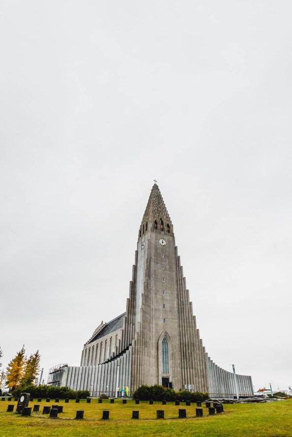 Iceland Reykjavik Hallgrimskirkja Outside