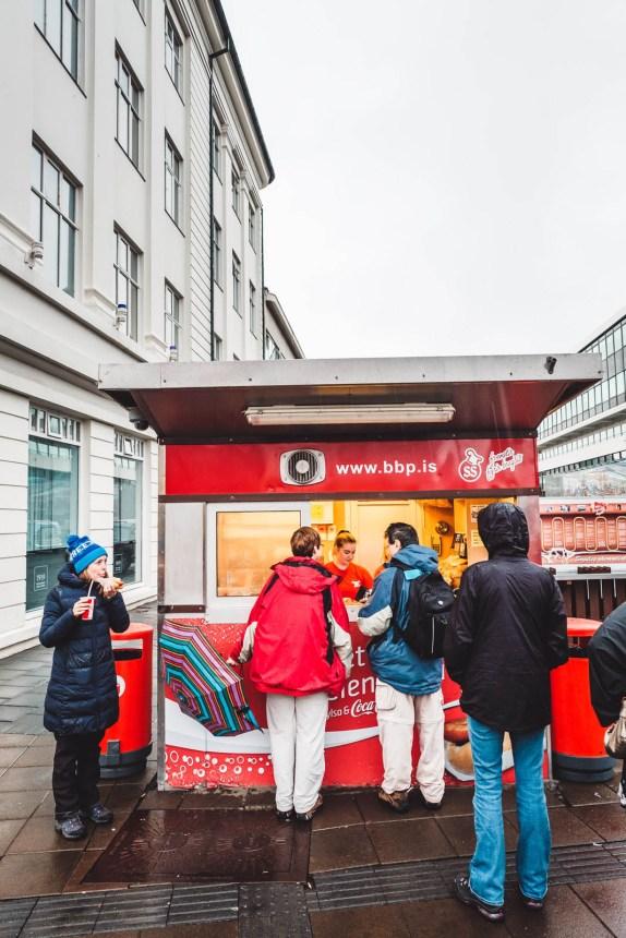 Iceland Reykjavik Hot Dog Stand