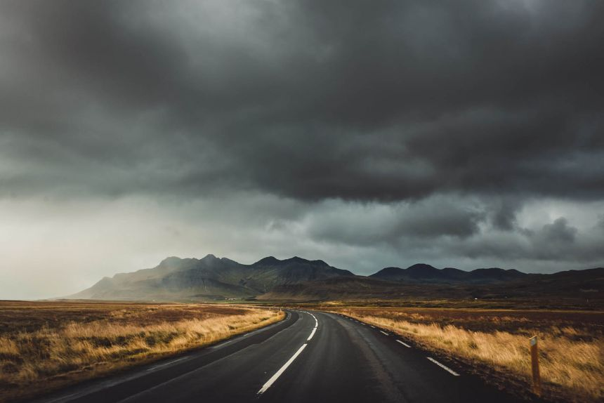 Iceland Roadtrip Epic Road Sky