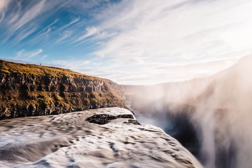 Iceland South Gullfoss Landscape Long Exposure