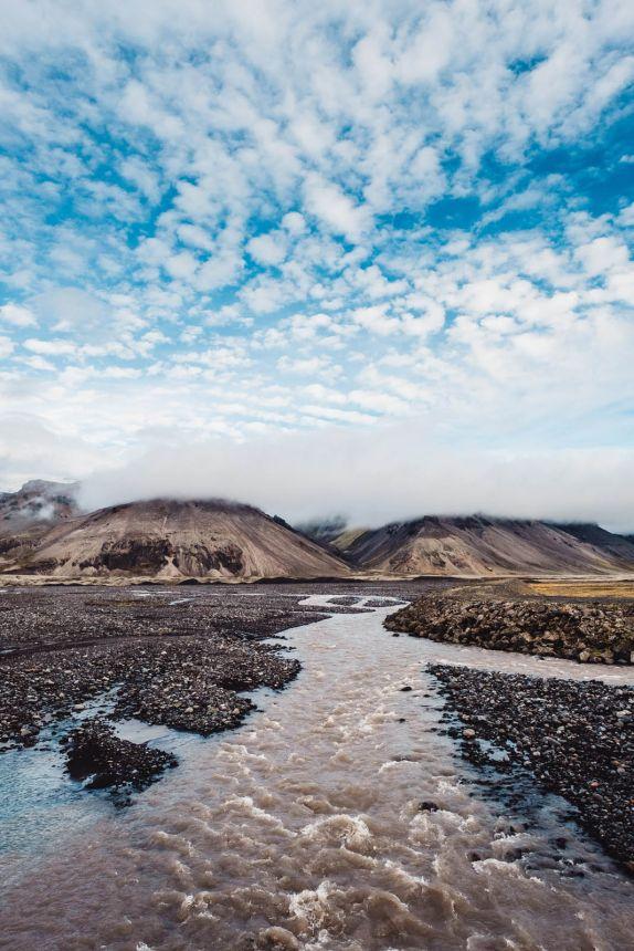 Iceland South Svinafellsjokull Glacier River