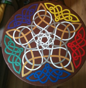 Celtic Knotwork Table, aka The Boa Constrictor