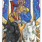 The Chariot, from The Robin Wood Tarot
