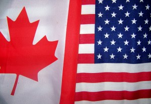 flags Canada US