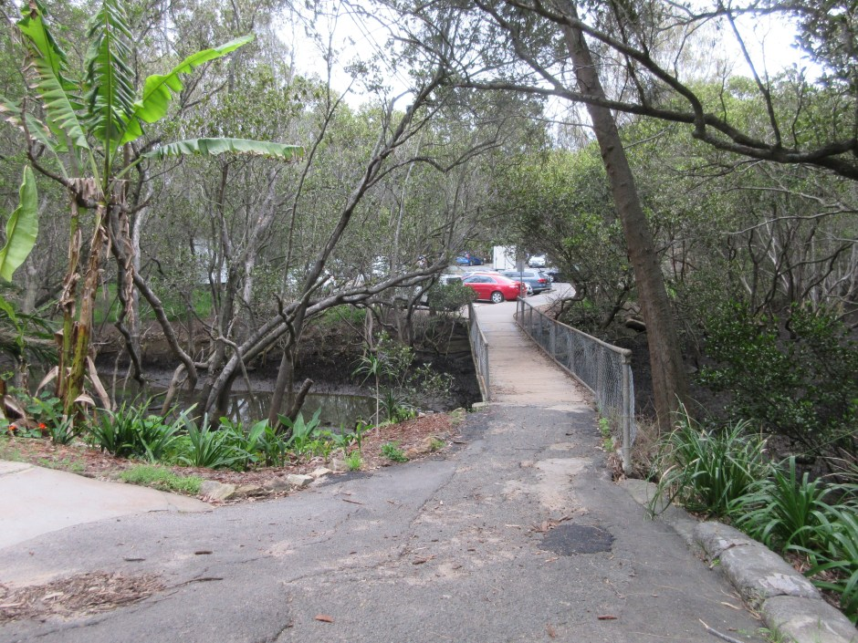 The footbridge is about to be replaced by Sutherland Shire Council, who have also just completed remediation work on the creek to improve water flow and quality