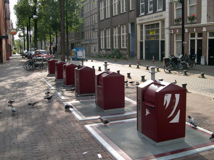 Rubbish bins in Amsterdam