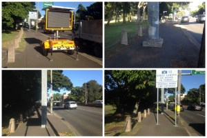 Obstructions on Moore Park Rd footpath