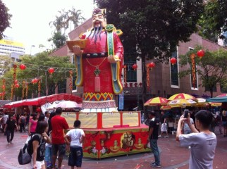 God of Prosperity, Chinese New Year celebrations in street